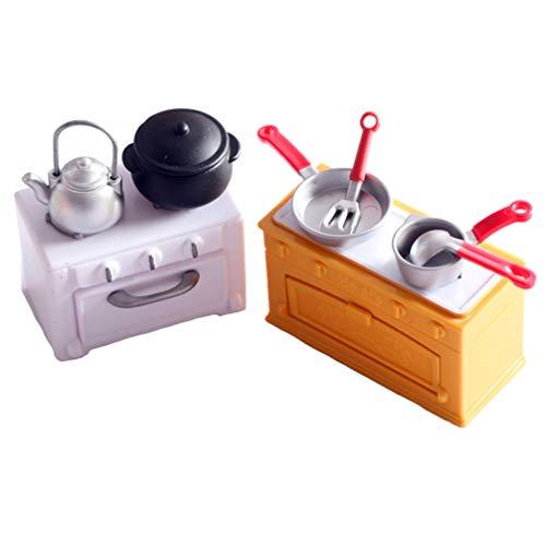 TOYANDONA Cuisine Mini Jouets Semblant Ustensiles de Cuisine Mini Marmites à Frire Et Casseroles Enfants Ustensiles de Cuisine Décoration de Maison de Poupée Ornement