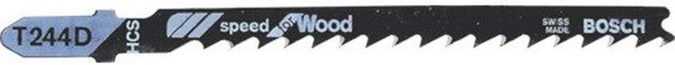 Bosch Professional 5 x decoupeerzaagblad T 244 D Speed for Wood (voor Zachthout, gebogen snede, accessoires Decoupeerzaag)