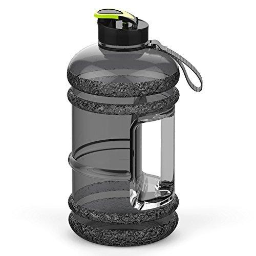 Addfun®Gute Qualität 2,2 Liter Groß Sport Wasserflasche Mit Trinken Mütze und Tragegriff, BPA frei Auslaufsicher,Ideal für Gym Diät Bodybuilding Outdoor Sport Wandern Büro