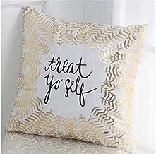 Pengcher Christmas Leaves Pillow Case Cushion Cover Decor Home Sofa Bed Pillowcase (Color : As Shown, Size : 45x45cm)