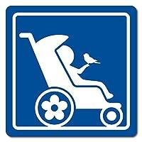 imoninn ベビーカー バギーサイン 子供用障害者マーク 障害児マーク 【マグネットタイプ】 車いすサイン・福祉車両用 (青色)