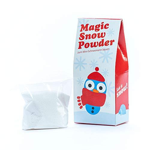 Monsterzeug Schneepulver für Kunstschnee, Dekoschnee zum Basteln, Magic Snow Powder, Instant Schnee, Weihnachtsdekoration