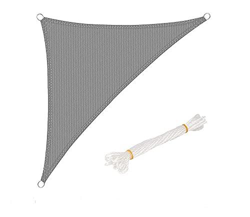 JKCTOPHOME Paño de protección UV,Cubiertas solares Anti-UV Anti-UV de Alta Resistencia Daira-Gray_3.6 * 3.6 * 3.6m,Sombrilla de Patio