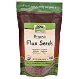 NOW Foods, Organic Flax Seeds, Source of Essential Fatty Acids and Fiber,...