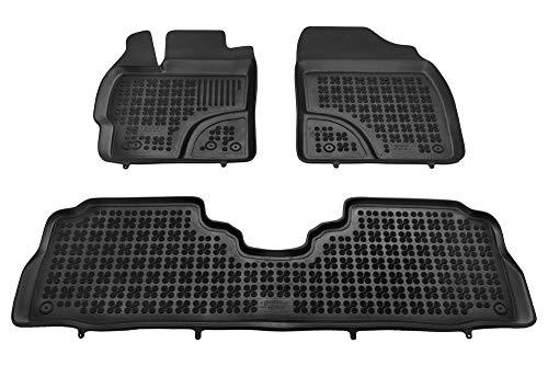 MTM Alfombrillas Goma Prius + 2011-, Tipo Cubeta a Medida Antideslizante con Borde 5 cm, cód. 3D 7646