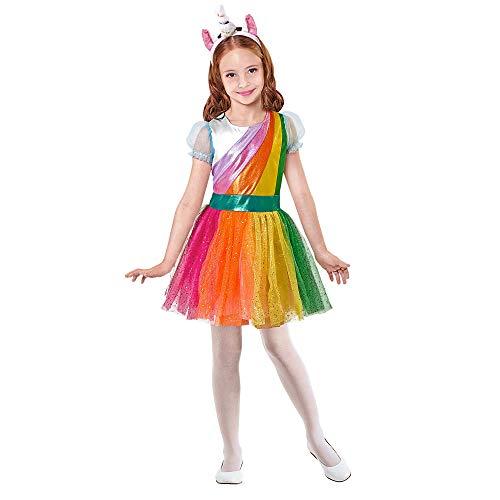 WIDMANN 07560 - Disfraz infantil de arcoíris para niña, 104 cm