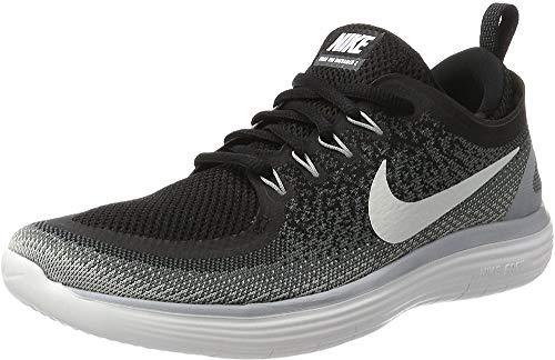 Nike Womens Free Rn Distance 2 Black/White Cool Grey Running Shoe Size 6