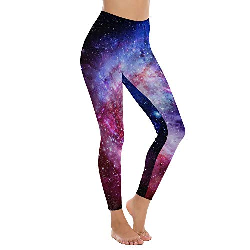 Women's High Waist Yoga Pants 3D Galaxy Nebula Graphic Tummy Control Slimming Booty Leggings Workout Running Butt Lift Tights_Y55