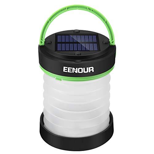 EENOUR LEDランタン ソーラーランタン USB充電式 キャンプランタン 高輝度 3段階調光 モバイルバッテリー機能 折り畳み 懐中電灯 キャンプ アウトドア 停電 防災対策(オレンジ)