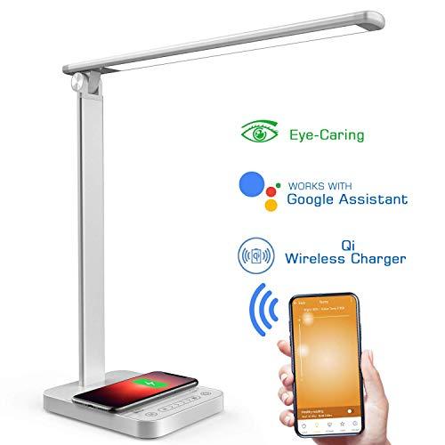 NAPATEK Lámpara Escritorio LED, Lámpara De Mesa Para El Cuidado De Los Ojos Con Wifi Y...