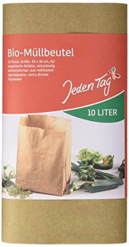 Jeden Tag Biopapiertüten 10L, 10 Stück, 192 g
