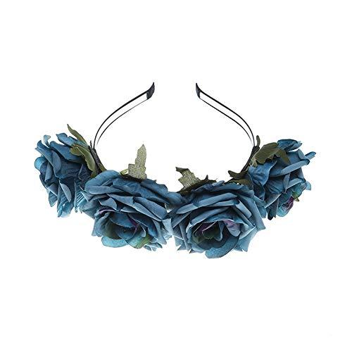 YAZILIND tela grande rosa flor Navidad accesorios para el cabello Photo Studio retro headband accesorios