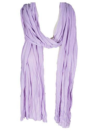 Plain Color Scarf, more than 30 colors, 76' long, 14' wide (#138 Lavender Purple)
