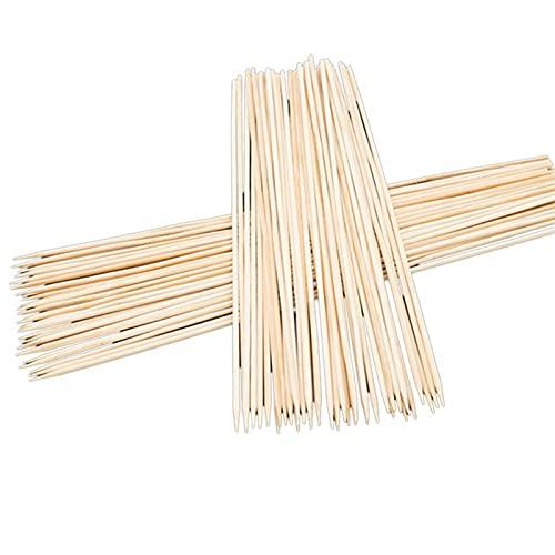 MCYAW 90 unids/Set Accesorios de Barbacoa bambú Pinchos Parrilla shish Kabob Barbacoa Barbacoa Herramientas de Madera palitos de Madera Churrasco Forks Parrillas de la Parrilla (Color : 3mmx30