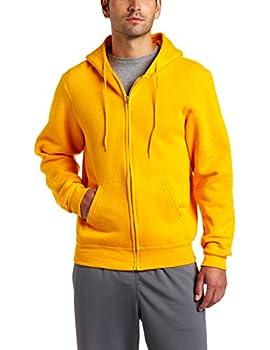 Soffe mens Classic Full Zip Sweatshirt athletic hoodies Light Gold X-Large US