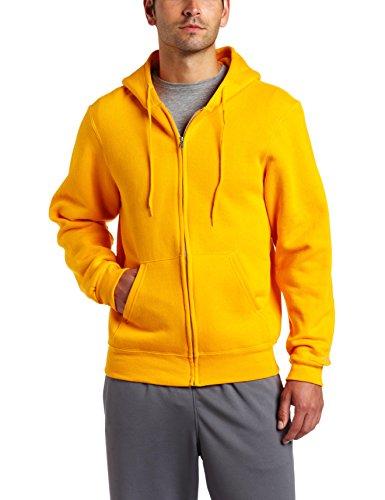 Soffe Men's Training Fleece Zip Hood Sweatshirt Gold Large
