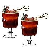 WANGIRL Copa de Cóctel Gin Tonic Vidrio Juego de 2 Copas de Fiesta Vaso de Batido Copa de Balon Gin Glass Vajilla de Vidrio Excelente para una Fiesta de Cóctel en Casa (Color : 250ml)