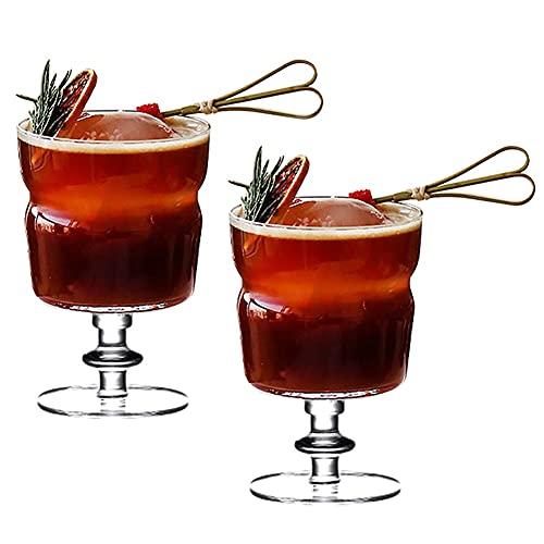 Crystal Copa de Cóctel Gin Tonic Vidrio Juego de 2 Copas de Fiesta Vaso de Batido Copa de Balon Gin Glass Vajilla de Vidrio Excelente para una Fiesta de Cóctel en Casa Cristalería ( Color : 250ml )