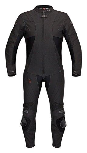 XLS Lederkombi, hochwertiger Einteiler schwarz-matt Gr. 46 48 50 52 54 56 58 60 62 (56)