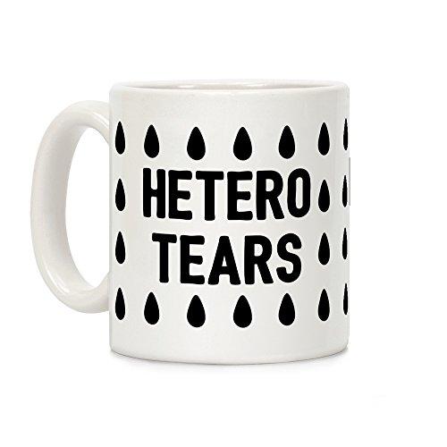 LookHUMAN Hetero Tears White 11 Ounce Ceramic Coffee Mug