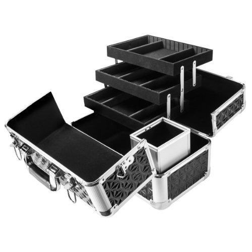 BARSKA Chéri Bliss Cosmetic Case CC-200, 14 x 8 x 11-Inch, Black