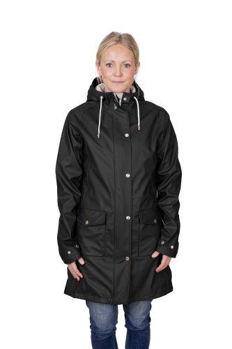 Tretorn Damen Regenjacke Erna Raincoat, Jet Black, S