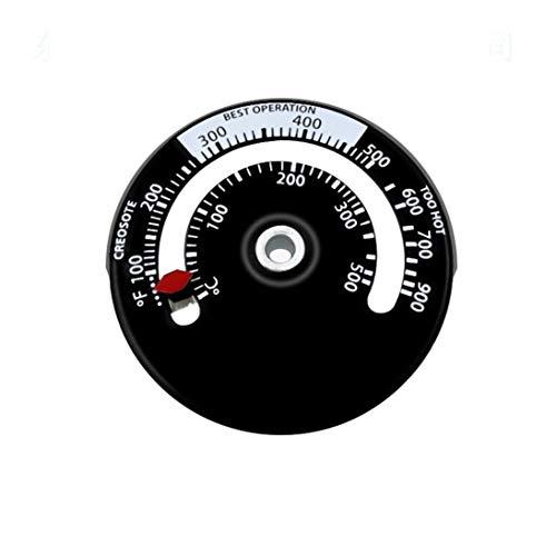 Magnet-Ofen-Rauchrohr-Thermometer-Ofen-Brand-Indikator-Heizungs-Temperatur-Messgerät Woodburner-Ofenrohr-Lüfterthermometer - Schwarzes u. Weiß
