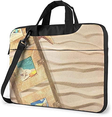 Laptop Shoulder Bag,Starfish Sand Photo Shockproof Laptop Sleeve Cover Business Messenger Bag Briefcase Handbag Case 15.6 inch