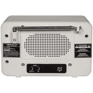 Crosley CR3036D Tribute Vintage AM/FM Bluetooth Radio, White Sand
