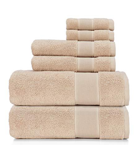 Ralph Lauren Sanders Handtuch 6-teiliges Set - Solid Tan/Hellbraun - 2 Badetücher, 2 Handtücher, 2 Waschlappen