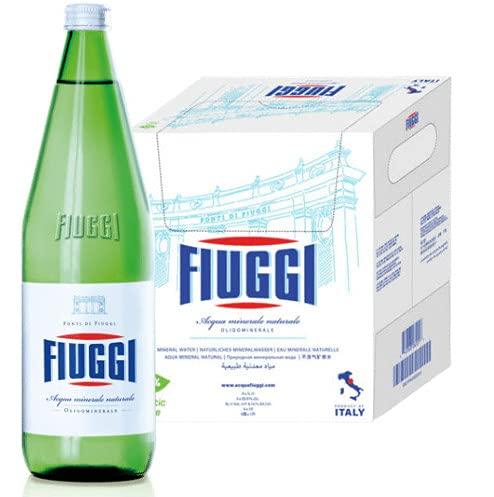 Acqua Naturale Fiuggi - 1lt x 6 bottiglie vetro (Bancali di varie dimensioni) (15 casse)