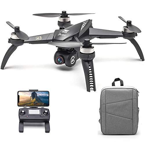 Entweg MJX-Drohne, MJX Bugs 5W B5W RC Drohne mit Kamera 4K Drohne 5G WiFi Brushless RC Quadrocopter GPS Track Flug Sonderziel Geste Foto Video Tragbarer Rucksack