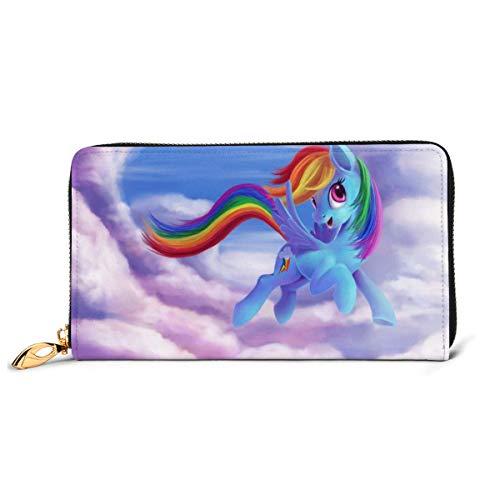Rainbow Dash My Little Pony Friendship is Magic Geldbörse, RFID-blockierend, Echtleder, Reißverschluss umlaufend, Kartenhalter, Organizer Clutch