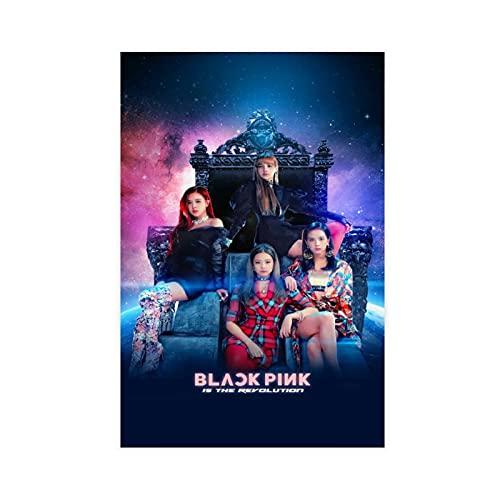 Kpop Coreano Pop Hip-hop Cantante Blackpink Música 5 Lienzo Póster Decoración...