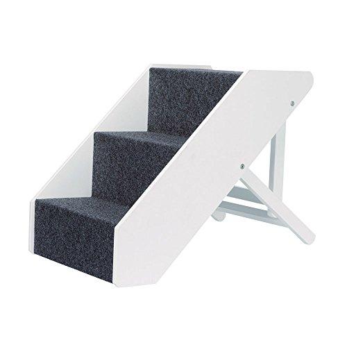 TRIXIE 39488 Escalier à Domicile réglable 3 Niveaux Blanc 40 × 67 cm