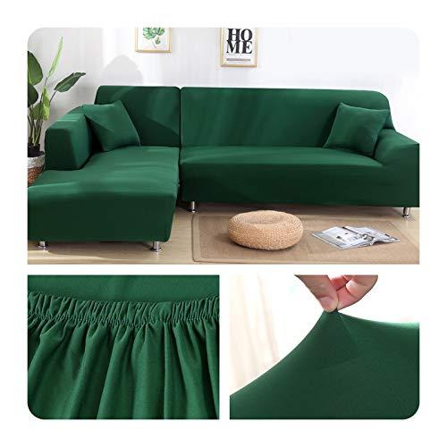 ZaHome Funda elástica de sofá para sala de estar, esquina en U, funda de sofá todo incluido, fundas de sofá en forma de L necesitan comprar 2 piezas - 014-2 plazas (145-185 cm)