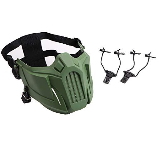JUSTDOLIFE Airsoft Masker Creatieve Beschermende Half Gezicht Masker Outdoor Game Masker Kostuum Masker Leger Groen