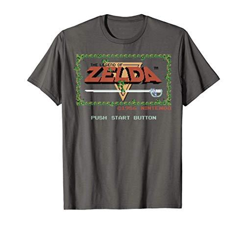 Nintendo Legend of Zelda Classic NES Title Screen T-Shirt T-Shirt