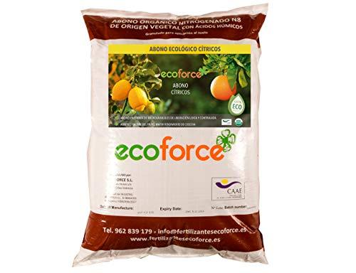 CULTIVERS Abono - Fertilizante Ecológico de 25 Kg Especial Cítricos. Origen 100% Orgánico y Natural Microgránulado. Mayor Rendimiento y Aumento del Calibre del Fruto