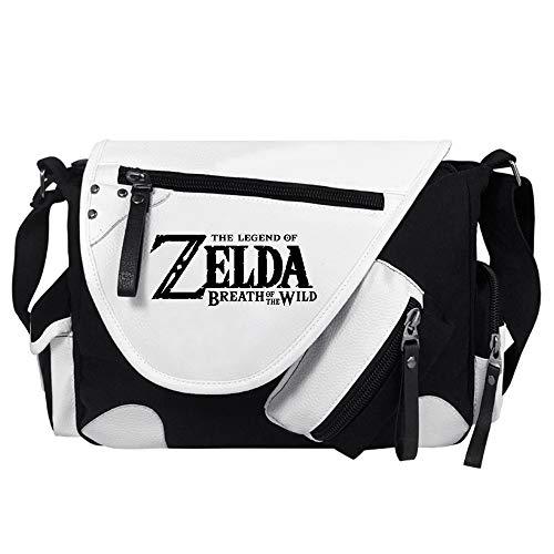 The Legend of Zelda Camiseta Impresión Animado con Dibujos de la Historieta de Crossbody del Peso Ligero de los Bolsos de Hombro Personalizar Unisex (Color : White04, Size : 34 X 26 X 10cm)