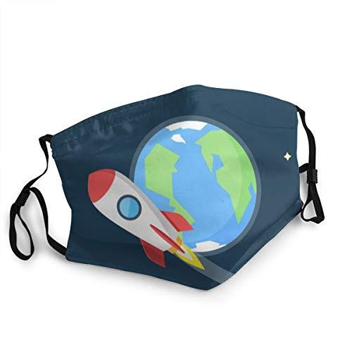 Preisvergleich Produktbild Unisex Flat Design von Raketen,  die im Weltraum fliegen Um 15cm * 20cm Travel Outdoor Radfahren Ski Warm Face Mask