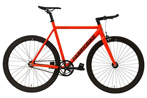 FabricBike Light - Fixed Gear Fahrrad, Single Speed Fixie Starre Nabe, Aluminium Rahmen und Gabel, Wheels 28