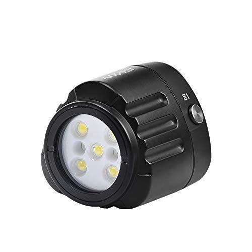Paneld de Luz LED Andoer Buceo Profesional LED luz de Vídeo 1000LM Anfibio Impermeable LED Fill-in luz IPX8 Submarino 40m/130ft para Acampar Video Relleno luz Submarina Fotografía