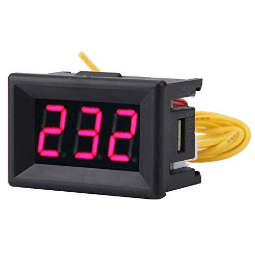 Medidor de voltaje, 1pc Digital 0.36 ″ Pantalla LED Voltímetro Panel medidor de voltaje CA 70-380V