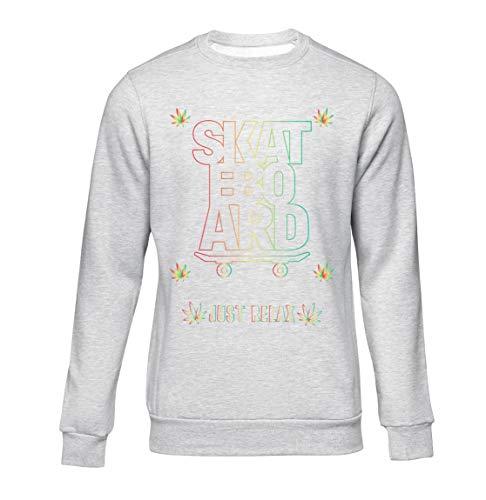Okdok, Herren Sweatshirts Just Relax Skateboard Lovers Design Apparel Clothing Line Gr. XX-Large, grau