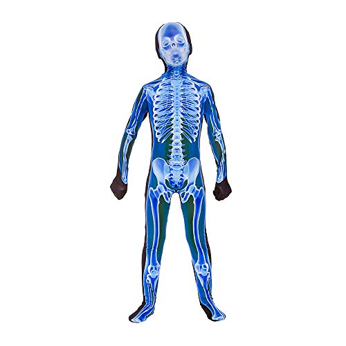 Kids Unisex X-Ray Skinz Large (8-10 years) Skeleton Print Halloween Fancy Dress Costume