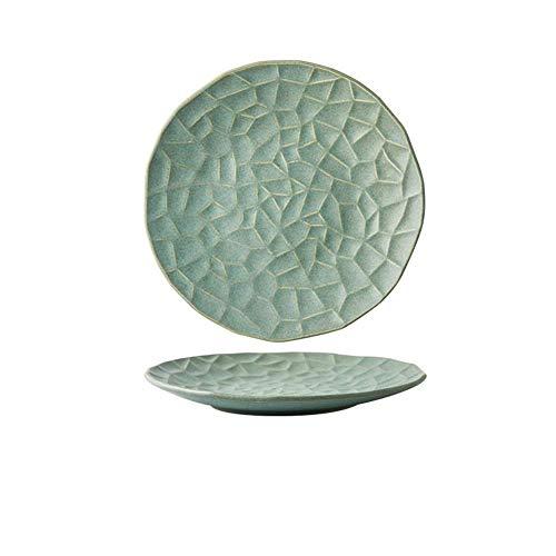 ZJN-JN Plaques Creative Arts de la Table en céramique en Forme de Plaque Western Pâtes Steak Plaque Petit déjeuner Plate Diamond Motif Plateau 26 26X3Cm Vaisselle