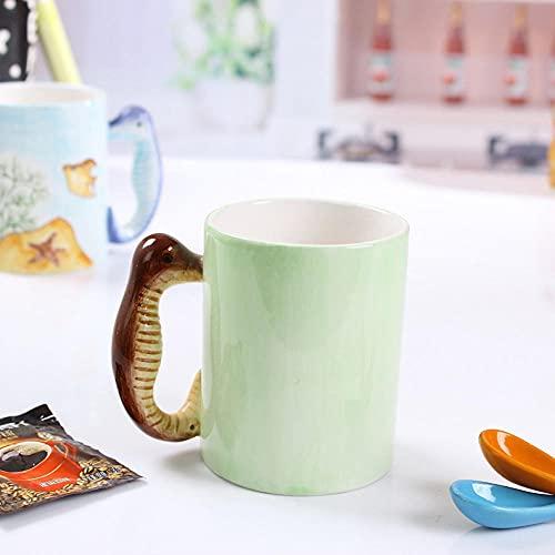 Taza de café de cerámica resistente y duradera-lindo mango de caballito de mar taza de agua de cerámica personalizada tridimensional con forma especial bajo vidriado Taza 3D publicidad práctica ta