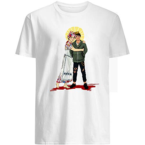 #Hereditary and #MIDSOMMAR Movie Poster #Dani with #Peter Graham Funny Movie Horror Halloween Film Cinema Gift Graphic Unisex T-Shirt (White-3XL)