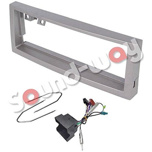 Sound-way Kit Montage Autoradio, Cadre Façade 1 DIN, Cable Adaptateur Connecteur ISO, Adaptateur Antenne, Clés Démontage Compatible avec Citroen C5 / Peugeot 407